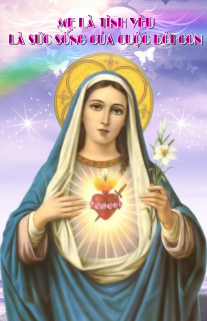 Lễ Kính Trái Tim Đức Mẹ Maria (09/06 )
