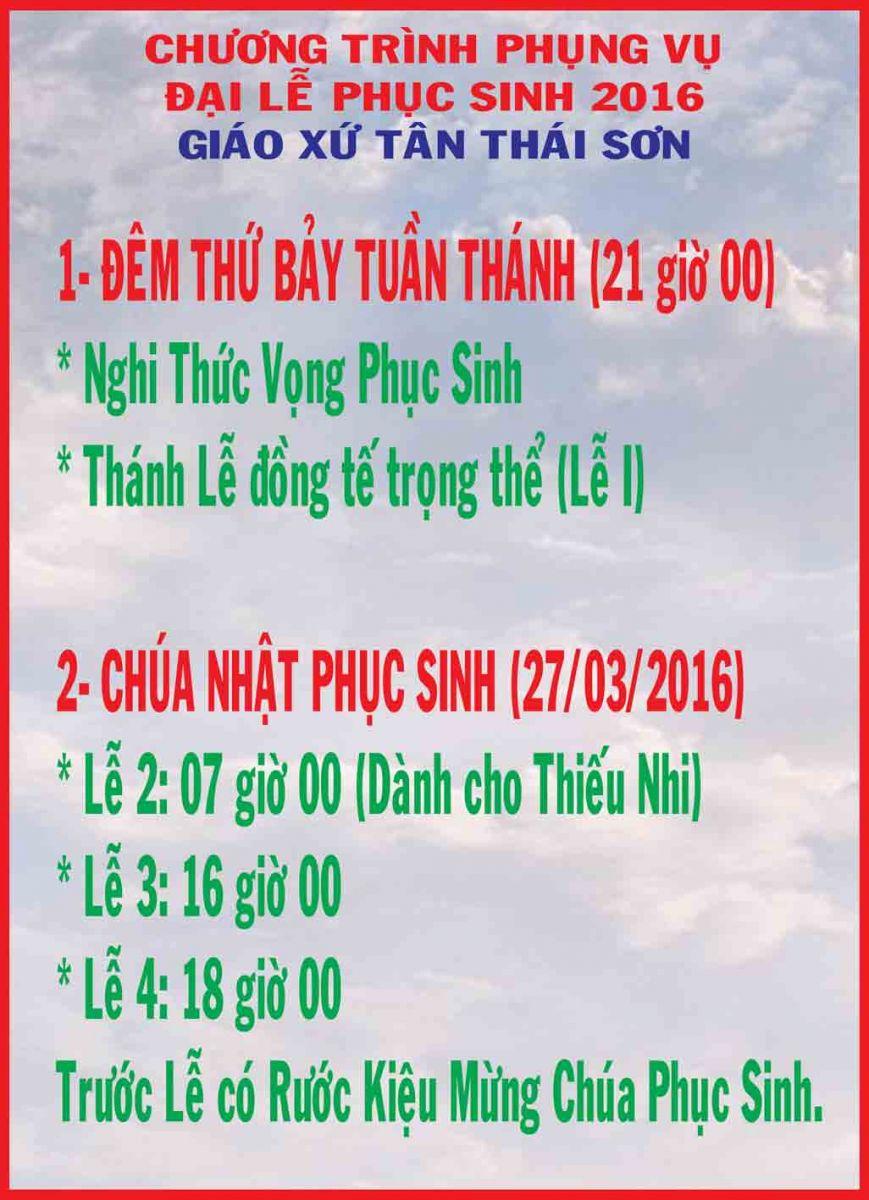 Giờ lễ Tĩnh Tâm GX Tân Thái Sơn 2016