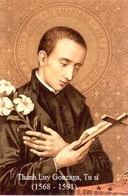 Thánh Lu-y Gonzaga, Tu sĩ (21/06)